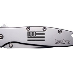 Us Flag Inverse Engraved Kershaw Leek 1660 Ken Onion Design Folding Speedsafe Pocket Knife By Ndz Performance