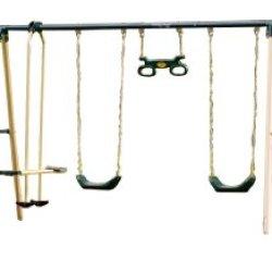 Flexible Flyer Backyard Fun Swing Set With Plays