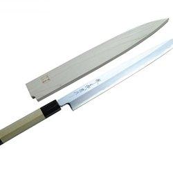 Yoshihiro Shiroko High Carbon Steel Mizu Yaki Hongasumi Yanagi Sashimi Knife Yoshikuni Series 10.5 In(270Mm)