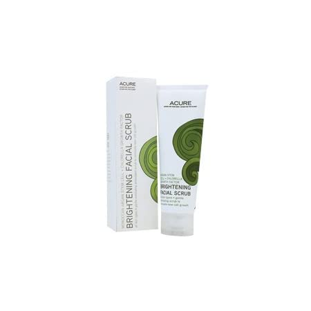 Brightening Facial Scrub by Acure Organics 4 oz Liquid Brightening Facial Scrub 2 oz Liquid Product ALL SKIN TYPES Seas the day with brightening exfoliation from the ocean Remove impurties and stimulate new cell growth. Ingredients Organic Curoxidant...