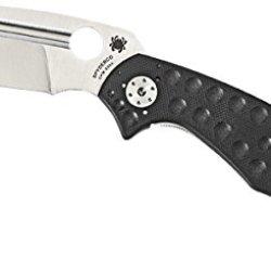 Spyderco Schempp Tuff G-10 Plain Edge Knife, Black