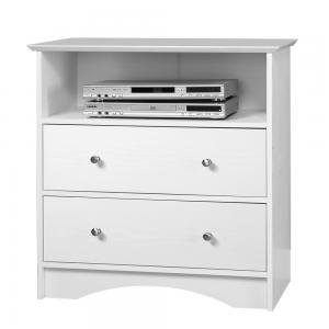 Image of Entertainment Center TV Stand in White Finish (AZ00-50591x31595)