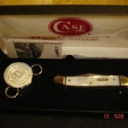Case Cutlery 815 Mini Mother Of Pearl Copperlock Gift Tin