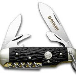 Boker Tree Brand Black Delrin Camp Pocket Knife Knives