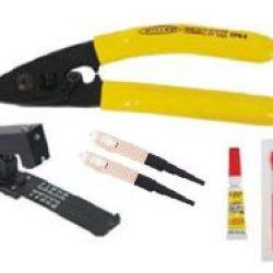 Bobtail Mini Kit With Fiber Stripper, Fiber Cleaver, Adhesive & (2) Sc Bobtail Multimode Connectors