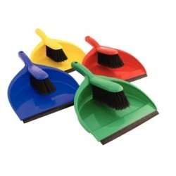 Soft Dustpan & Brush Set Colour: Red. 220Mm Wide.