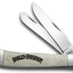 Case Xx Harley Davidson® Motorcycles Natural Bone Trapper Pocket Knife Knives