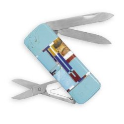 316L Stainless Steel And Multicolor Imitation Inlay Stone Pocket Knife Money Clip.
