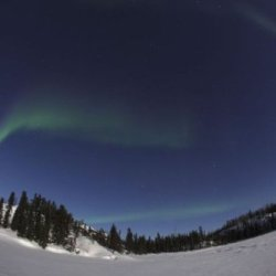 Aurora Over Vee Lake, Yellowknife, Northwest Territories, Canada. 14 X 11 Poster