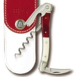 Chateau Laguiole Waiters Corkscrew Tasaki With Red And White Handle