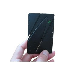 Magcube Credit Card Folding Safety Knife (Black) 2Pcs