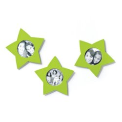 Demdaco Metal Photo-Holder 3-Piece Magnets 17496 - Green Stars