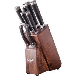 Ryuu Vg10 Damascus 8-Piece Knife Set With Block