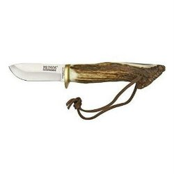 Schrade Scprim3 Team Primos Fixed Blade Knife With Stag Handle With Lanyard And Leather Sheath