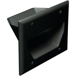 Datacomm Electronics 45-0003-Bk 3-Gang Recessed Cable Plate (Black) Datacomm Electronics 45-0003-Bk