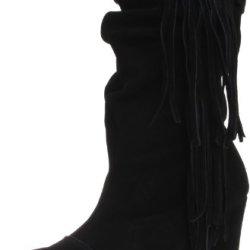 Kelsi Dagger Women'S Carousel Boot,Black Suede,8.5 M Us