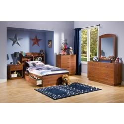 Image of Kids Bedroom Furniture Set in Sunny Pine - South Shore Furniture - 3342-BSET-1 (3342-BSET-1)