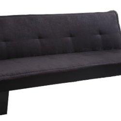Homelegance 4822Bk Convertible/Adjustable Sofa Bed, Black Microfiber