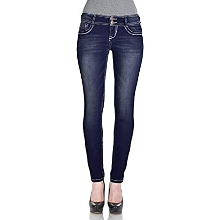 Our Luscious Curvy Skinny Jeans feature classic five pocket styling and a double button closure. Contoured waistband to prevent gapping while creating a slim silhouette.