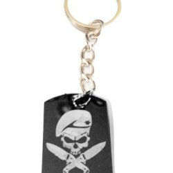Military Armed Force Skull With Knife Mf Weapons Tactical Gear Logo Symbols - Metal Ring Key Chain Keychain