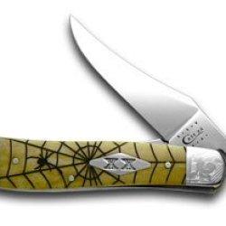 Case Xx Antique Bone Spider Web 1/500 Pocket Knife Knives