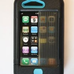 Iphone 3 Case Black W/ Turquoise Accents Iphone 3 Case Black W/ Turquoise Accents