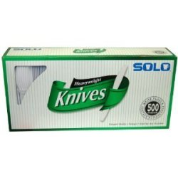 Solo Heavyweight Plastic Knives - 500 Count