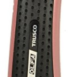 Olfa Pink Utility Knife With Auto Locking Snap-Off Blade And Rubber Grip