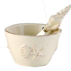 October Hill Ceramic Bowl, Seashell