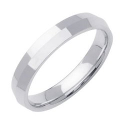 Platinum Women'S Traditional Knife Edge Wedding Band (4Mm) Size-3