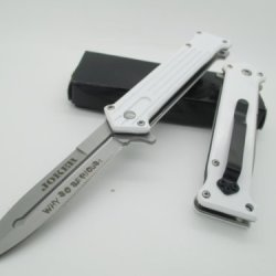 Tac-Force Assisted Opening Linerlock Belt Clip White Joker Design A/O Speed Rescue Knife