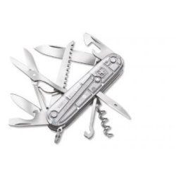 Victorinox Swiss Army Huntsman Pocket Knife, Silver Tech