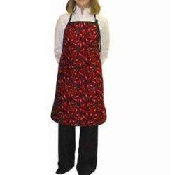 Chefs Kitchen Bib Apron Red Pepper Chili Design