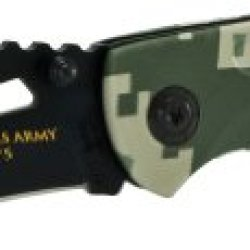 U.S. Army Army2C Linerlock Knife, Black Clip Point Blade And Marpat Camo Handle