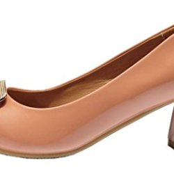 Index Women'S Simple Rough Heels Butterfly Knot Thin Shoes (8 B(M) Us, Khaki)