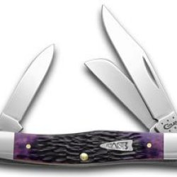 Case Xx Purple Haze Jigged Bone Stockman Pocket Knife Knives