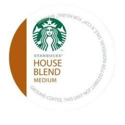 Starbucks House Blend Medium Roast Coffee Keurig K-Cups, 48 Count