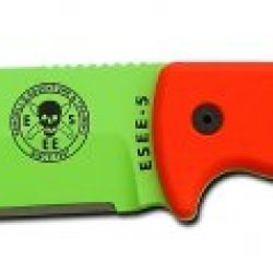Esee 5P-Vg Venom Green Blade & Orange G-10 Handle Knife