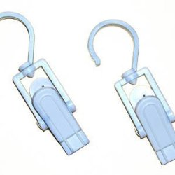 "Super Clever Clips - 1 Pack Of 2 Unit  (White) (4.25"" Long)"