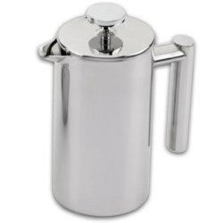 Grunwerg Cafe Ole Double Wall Insulated 6 Cup/25Oz Stainless Steel French Coffee Press