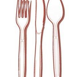 Fineline Settings 96-Piece Extra Heavy Cutlery Combo, Bone