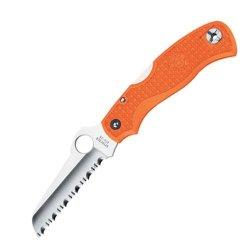 Spyderco Rescue Jr., Orange Frn Handle, Serrated