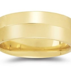 8 Mm Knife Edge Comfort-Fit Wedding Band In 14K Yellow Gold