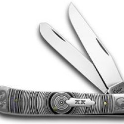 Case Xx White Delrin Tree Ring Trapper 1/500 Pocket Knife Knives
