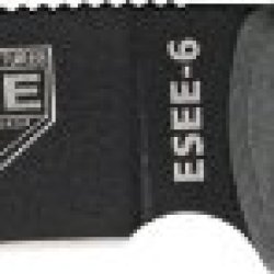 Esee Model 6 Plain Edge Knife With Sheath And Clip Plate