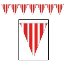 Striped Pennant Banner Party Accessory (1 Count) (1/Pkg)