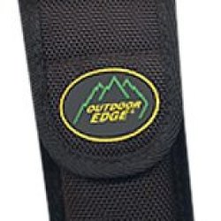 Outdoor Edge Fs-45 Multi-Use Holster Top Quality Nylon Multi-Use Holster Zytel Belt Clip And Carabiner For D-Ring Or Loop Attachment, 4-1/2-Inch