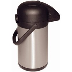 Pump Action Airpot 1.9 Litre Capacity. Stainless Steel Double Wall.