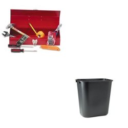 Kitgnsctb9Rcp295600Bk - Value Kit - Great Neck Ctb9 Light Duty Office Tool Kit, 16 Piece (Gnsctb9) And Rubbermaid-Black Soft Molded Plastic Wastebasket, 28 1/8 Quart (Rcp295600Bk)