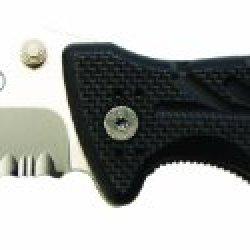 Ontario 8761 Xr-1 Folder Serrated, Black